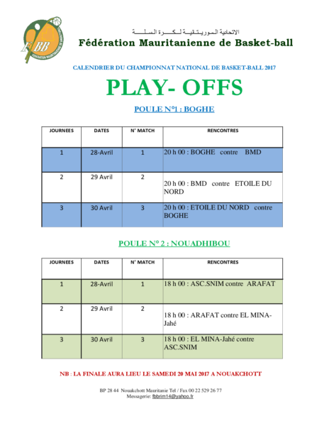 CALENDRIER DES RENCONTRES PLAY OFFS 2017 (2)