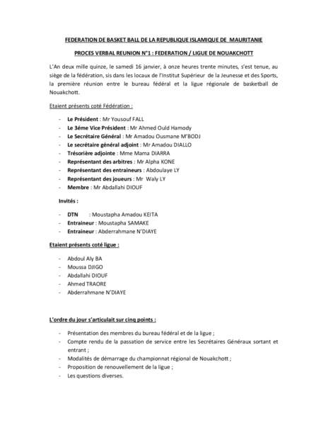 PV REUNION FEDERATION-LIGUE 2015