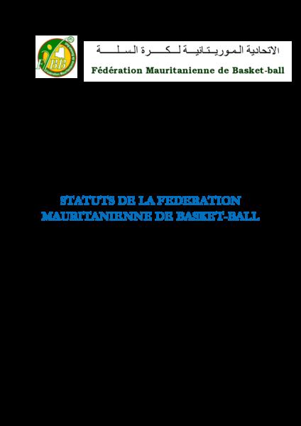 Statuts de FBBRIM amendés le 15 juillet 2018 (Français)