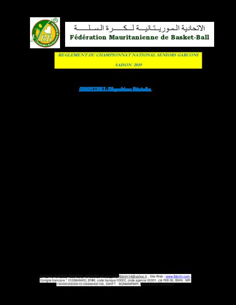 règlement championnat 2019 version revue et corrigée 2