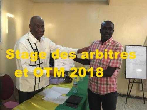 Stage des arbitres et OTM 2018