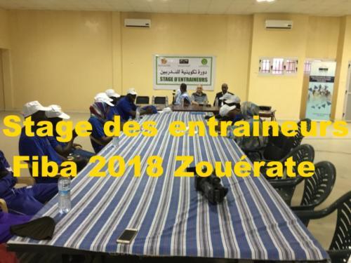 Stage des entraineurs Fiba 2018 Zouérate