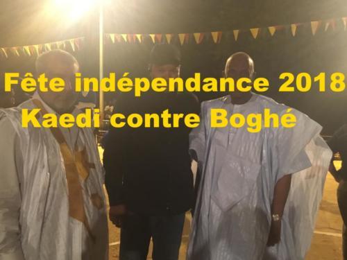 Fête indépendance 2018 Kaédi contre Bogué
